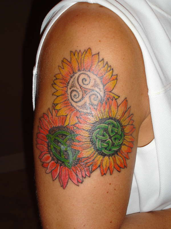 celtic sunflowers tattoo