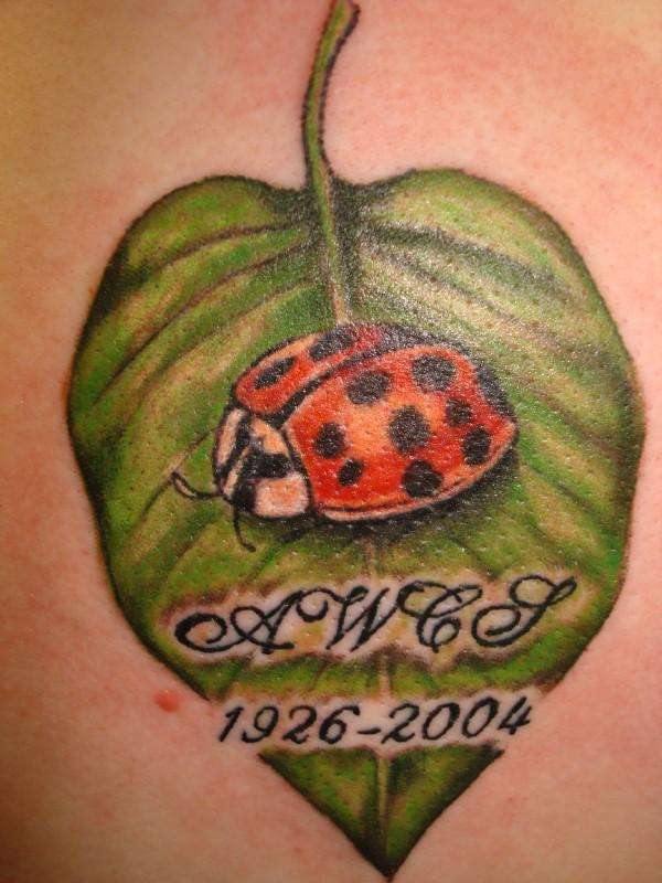 Lady Bug tattoo