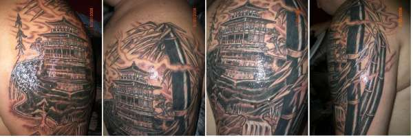 Golden Pagoda tattoo