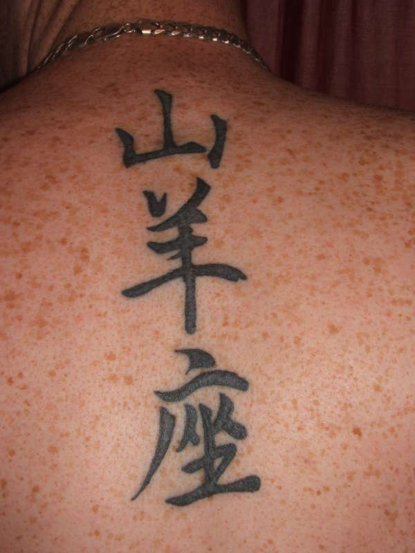 chinese wording tattoo