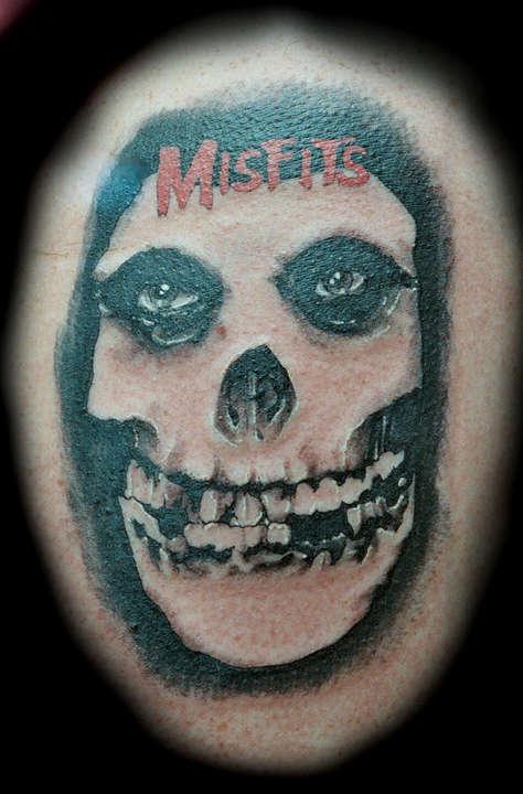 Misfits tattoo Misfits Skull Tattoo