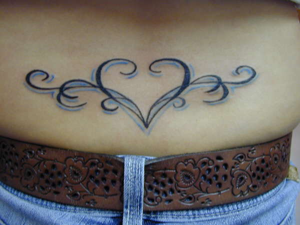 Tribal Heart Tramp Stamp tattoo