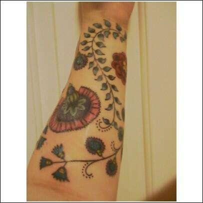 Finished Floral Tattoo tattoo