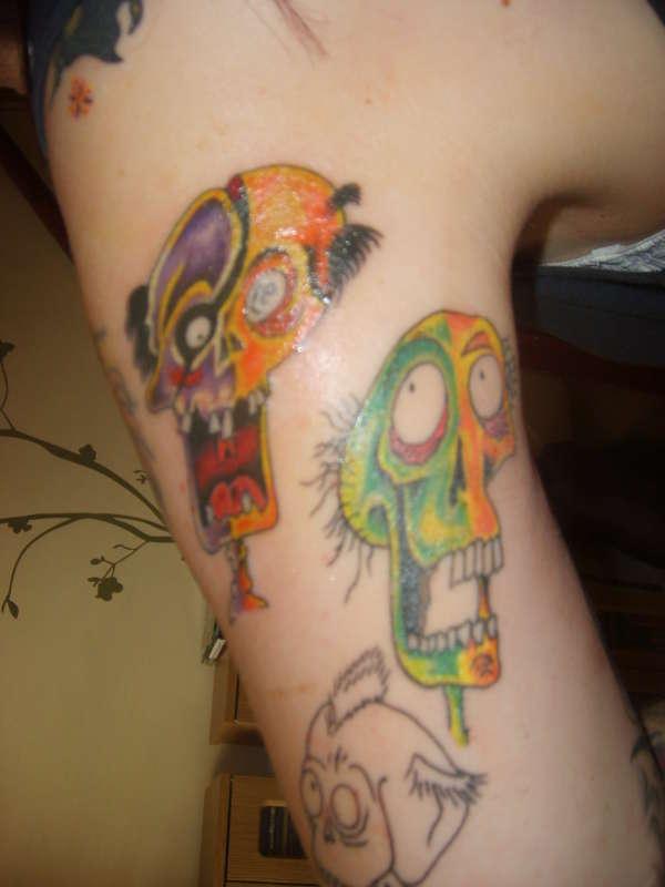 More skulls tattoo
