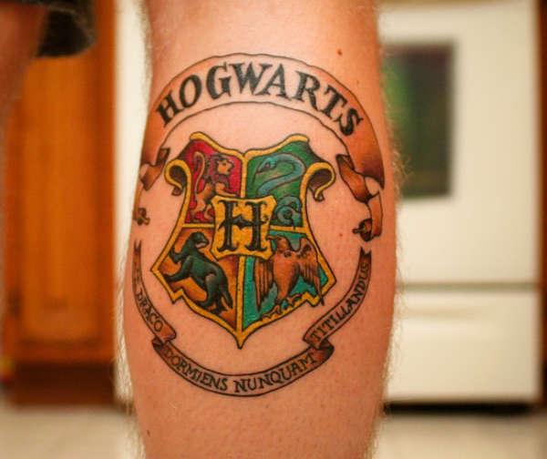 Hogwarts School Crest tattoo