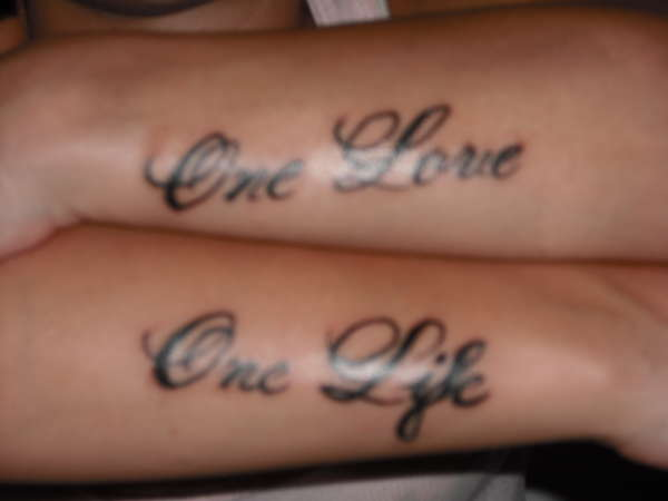 the gallery for gt one love tattoo images