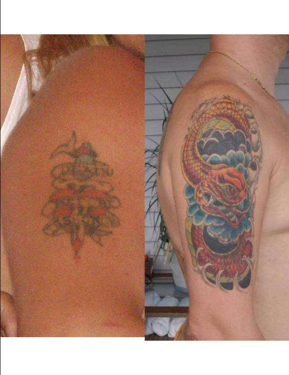 Dagger Cover Up tattoo