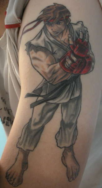 Ryu from street fighter tattoo