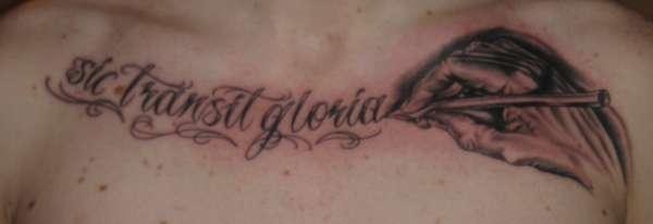 Sic Transit Gloria - M C Escher hand tattoo