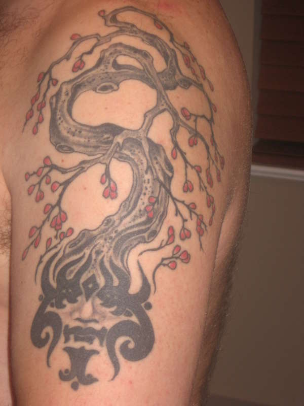 brain tree tattoo