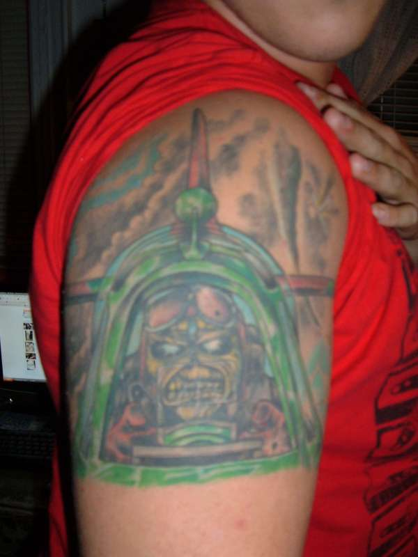 Iron Maiden Evil Eddy Aces High, After color tattoo