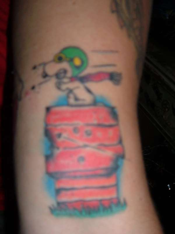 Snoopy red baron tattoo for Red baron tattoo