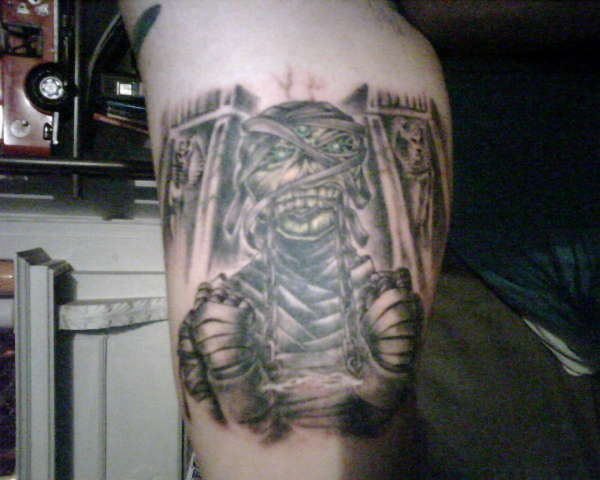 Iron Maiden Powerslave tattoo