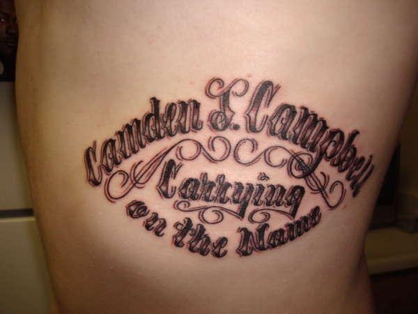 Tattoo designs for grandchildren names pictures to pin on for Tattoos with grandchildren s names