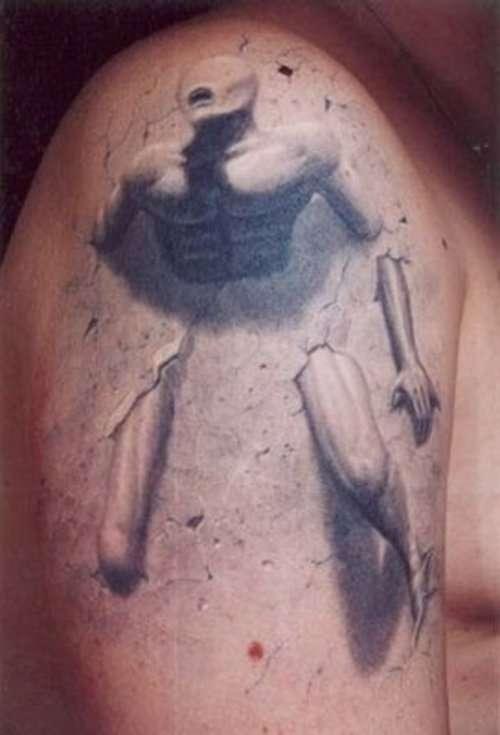 3-D Man tattoo