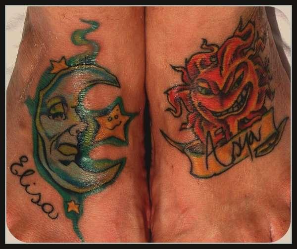 the moon and sun tattoo