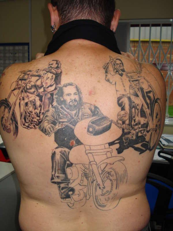Willies Back Piece tattoo