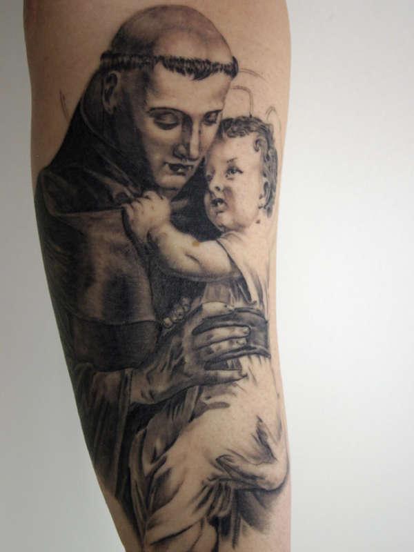 saint anthony tattoo. Black Bedroom Furniture Sets. Home Design Ideas