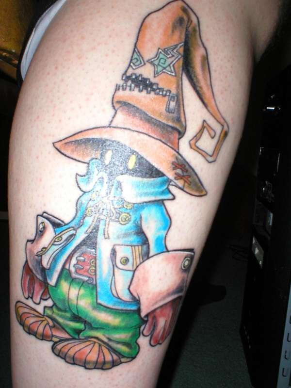 Black Mage Vivi From Final Fanasty 9 Tattoo