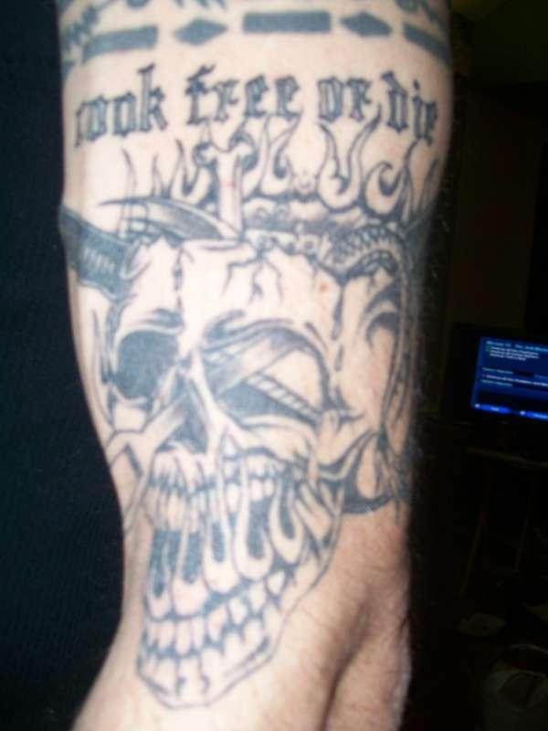 cook free or die tattoo