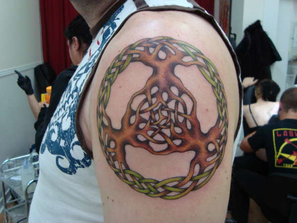 Triple Tree of life tattoo