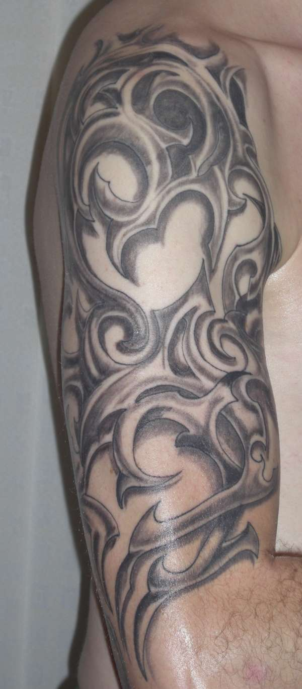 Shaded Tribal tattoo