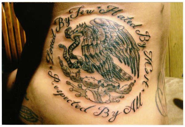cello bandera de Mexico tattoo