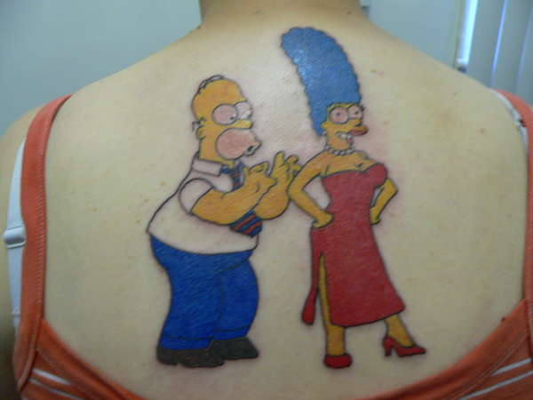the simpsons lol tattoo