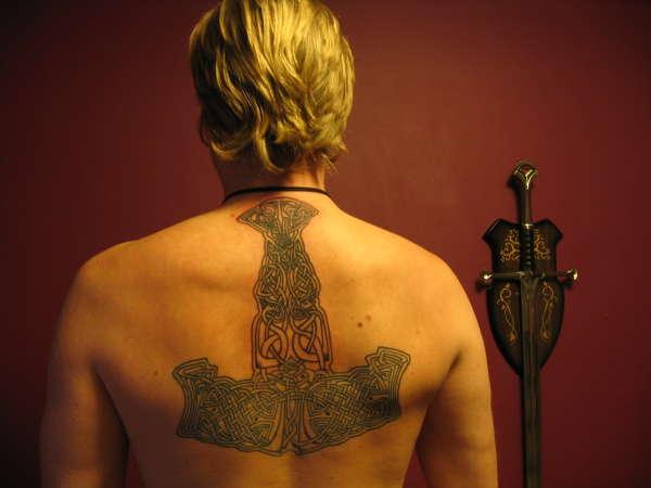 Mjolnir Tattoo (Hammer of Thor)