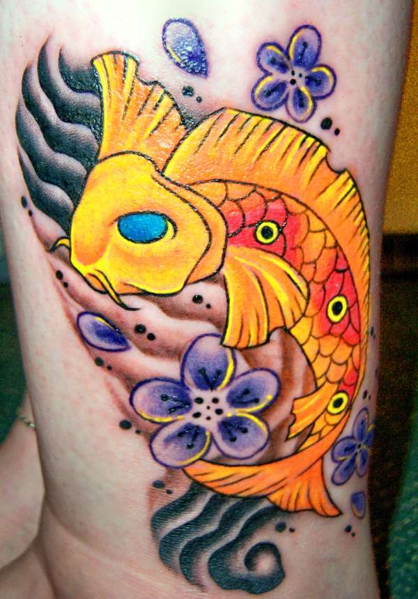 My First Tat...  Cute Lil Koi tattoo