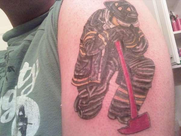Firefighter Piece tattoo