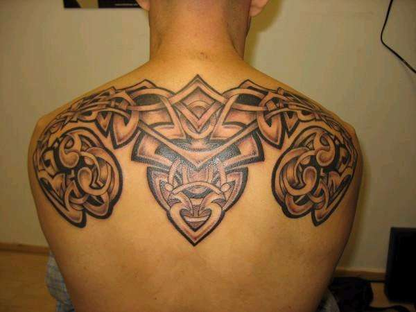 celtic shoulders tattoo