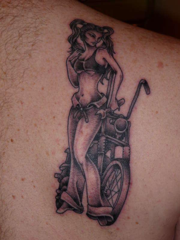 Biker Chick tattoo
