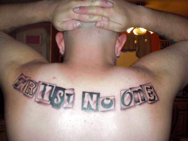 trust nobody tattoo