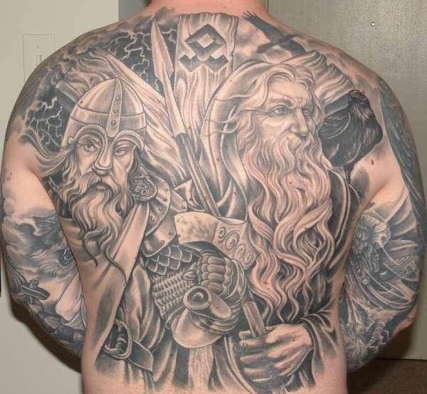 Odin and Thor ( Norse Mythology - Viking Vikings ) tattoo