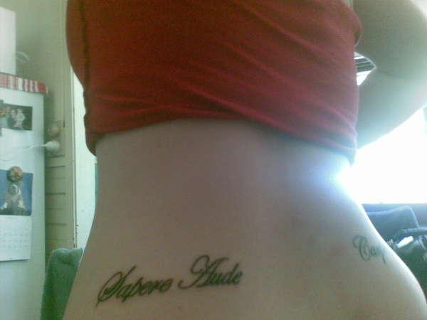 sapere aude tattoo