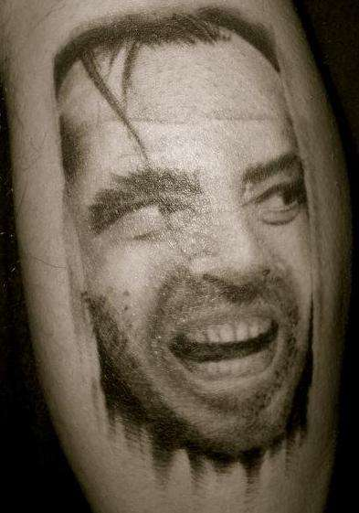 "Jack Nicholson ""The Shining"" tattoo"