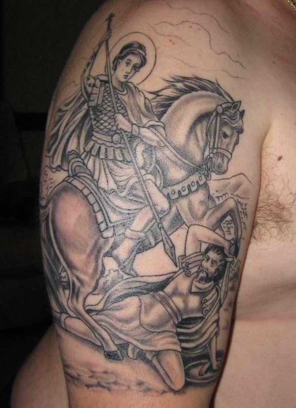 st dimitrios outline amp shading tattoo