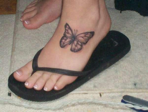 butterfly foot tattoo tattoo