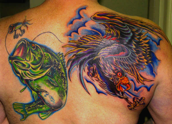 Bass Vulture Tattoo