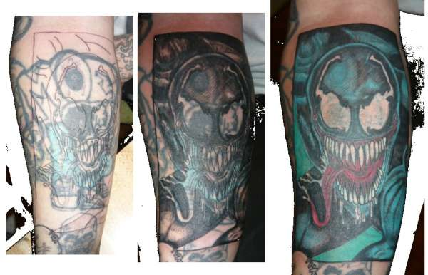 Another addition to the Full Sleeve Cover-up tattoo