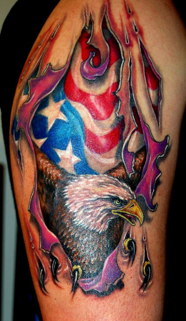 Eagle Ripping Skin tattoo