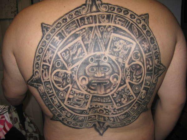 Aztec / Mayan Calendar tattoo