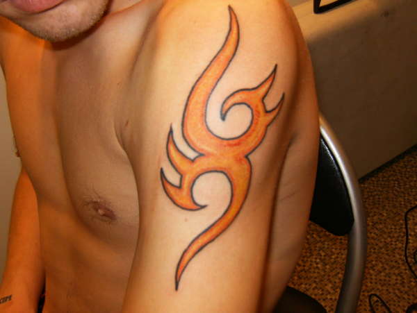 fire tribal tattoo