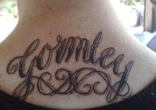 GORMLEY tattoo