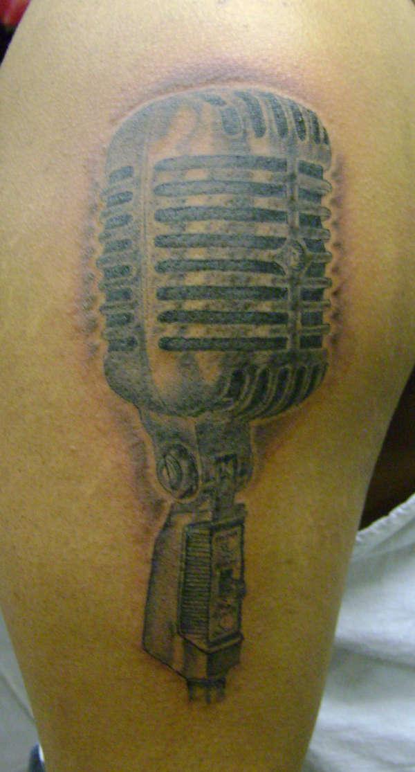 50's Style Mic tattoo
