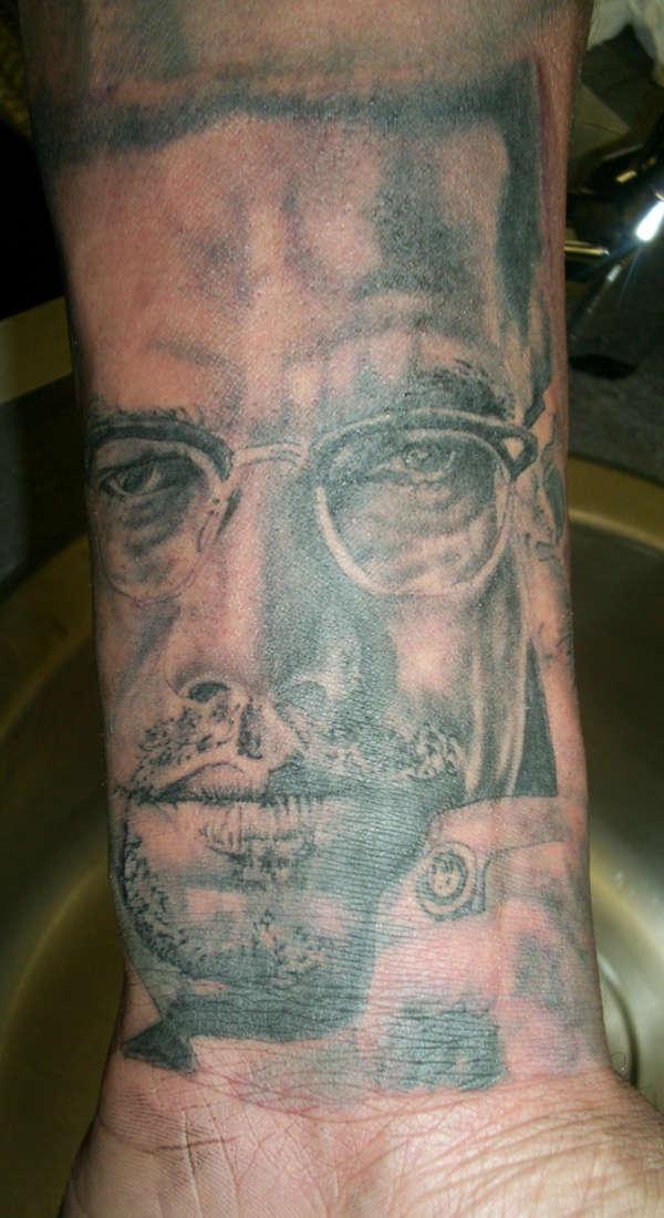 Malcolm X tattoo