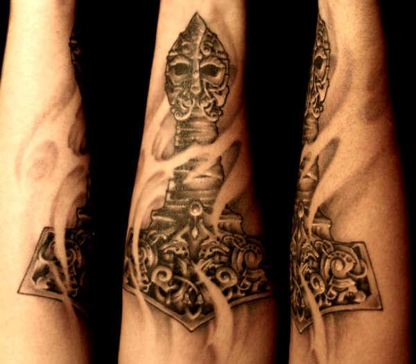 mjolnir the way i see it tattoo. Black Bedroom Furniture Sets. Home Design Ideas