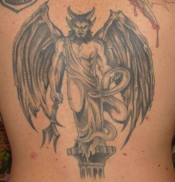 The Fallen Angel tattoo