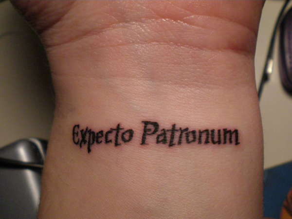expecto patronum tattoo